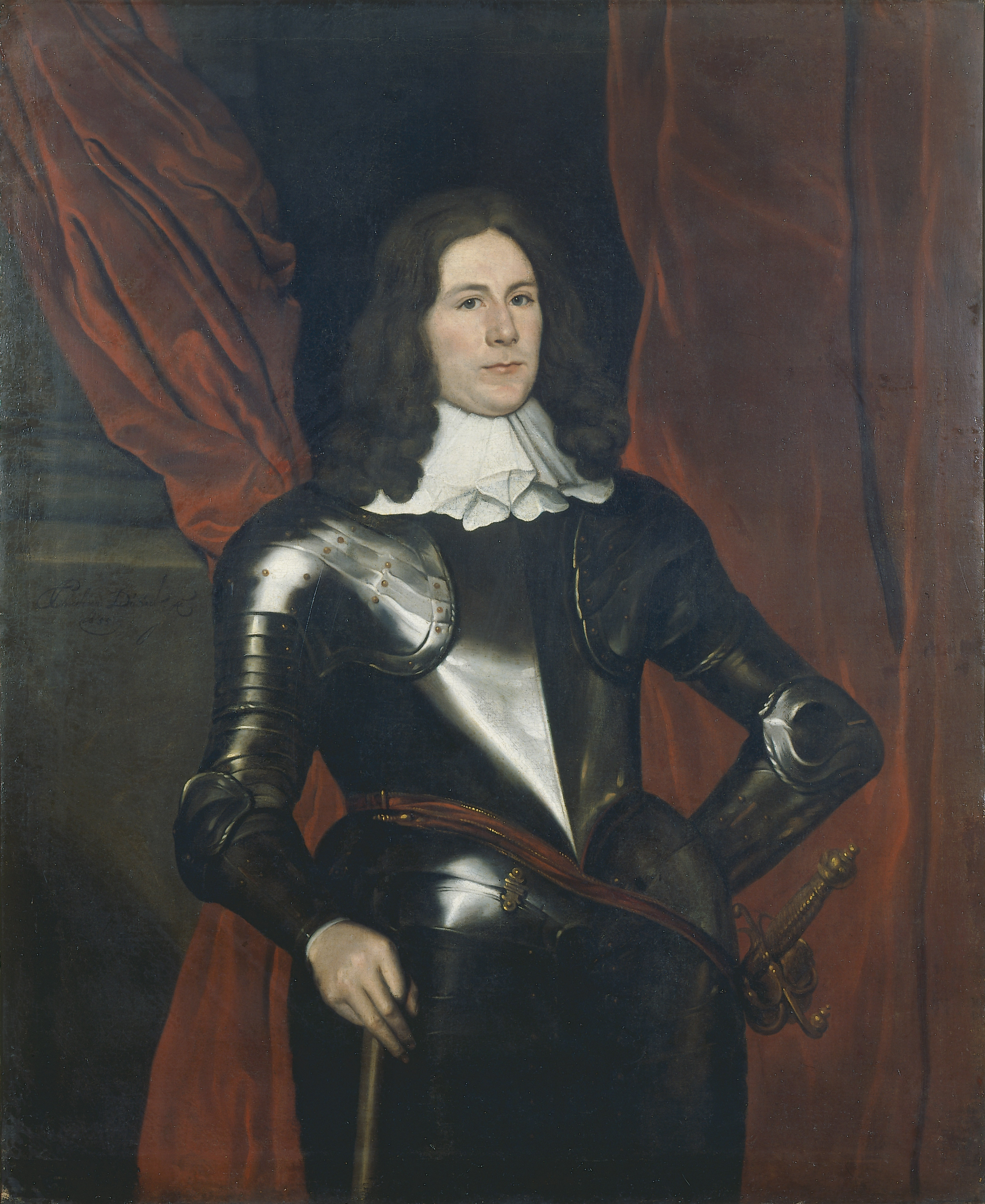 Portrait of Henry Cromwell, by Christian Dusart, 1655, Oil on Canvas. thumbnail
