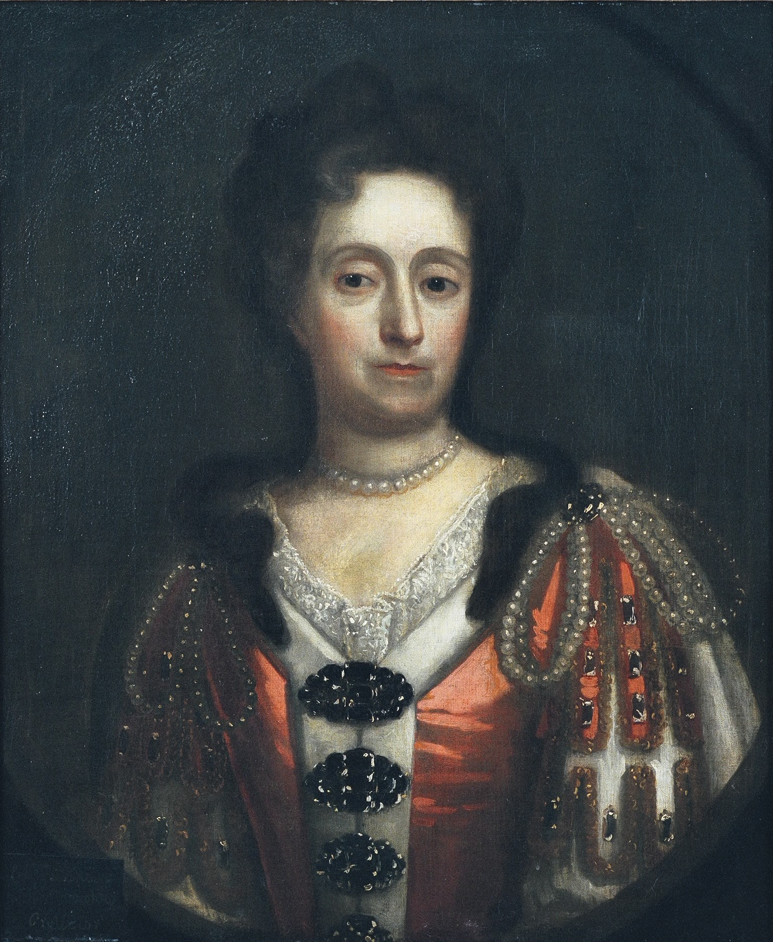 Portrait of Mary, Lady Fauconberg, (Cromwell), circle of Thomas Murray, c.1670, Oil on Canvas. thumbnail
