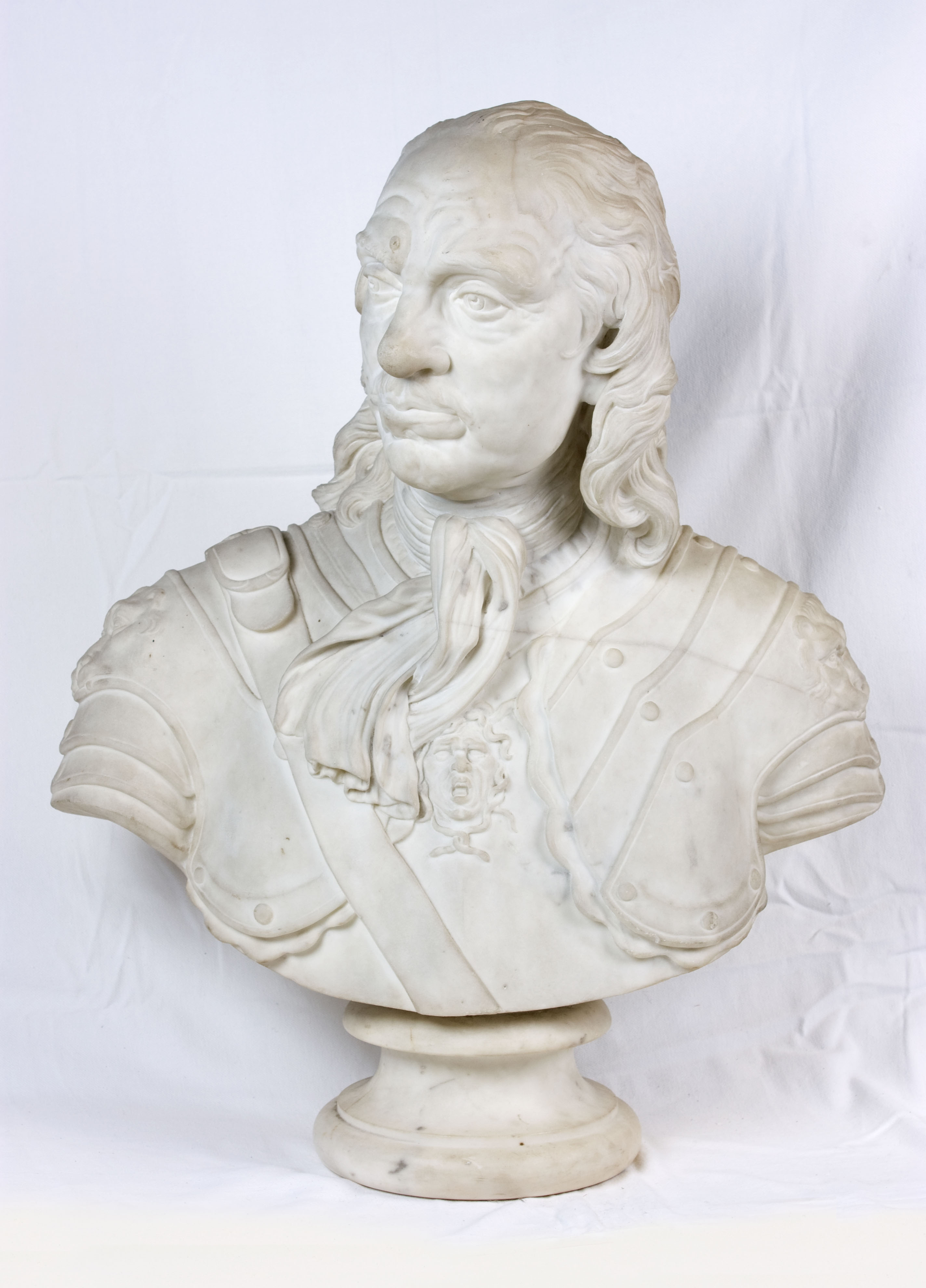 Bust of Oliver Cromwell, after Joseph Wilton, 19th Century. thumbnail