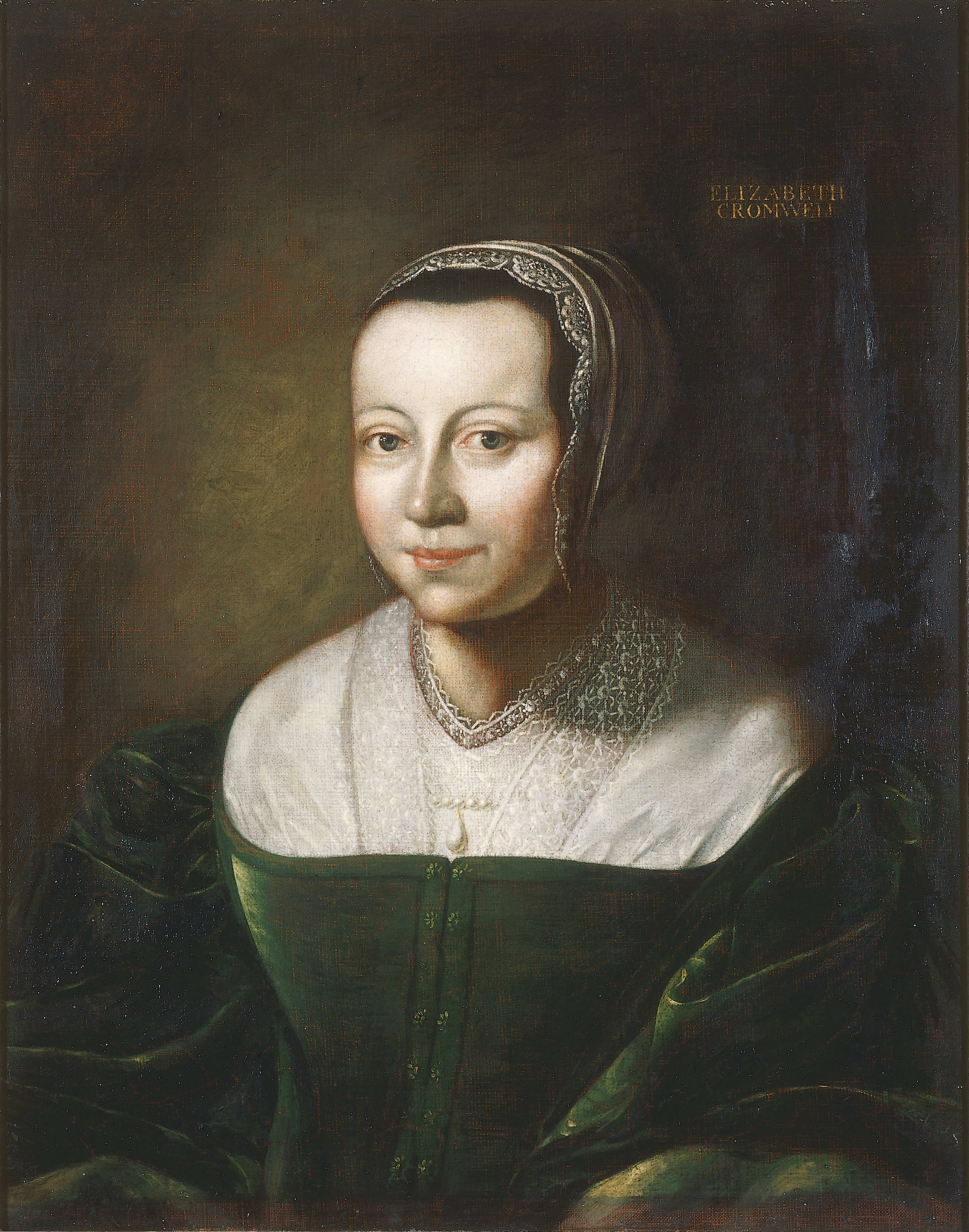 Portrait of Elizabeth Cromwell, English School, late 1600s, Oil on Canvas. thumbnail